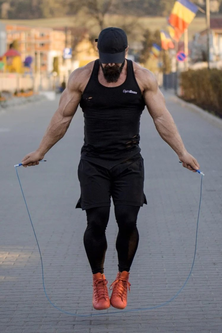 Jumping on the skipping rope