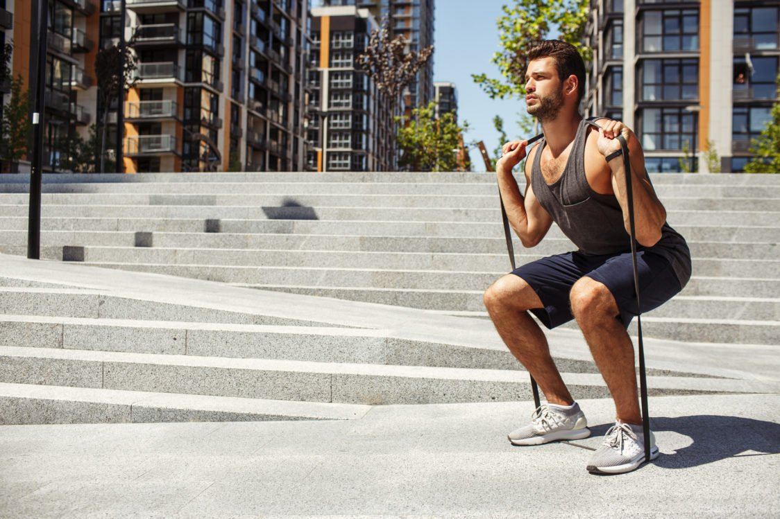 How to make squats more difficult with an expander