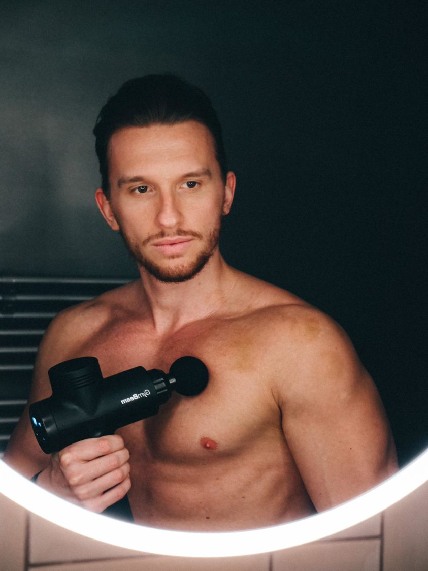 Regeneration with the help of a massage gun