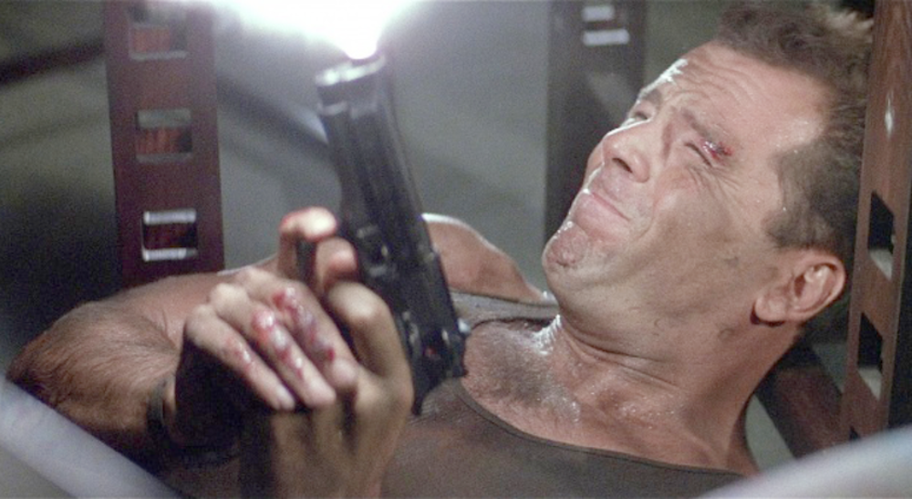 How did Bruce Willis lose some of his hearing?