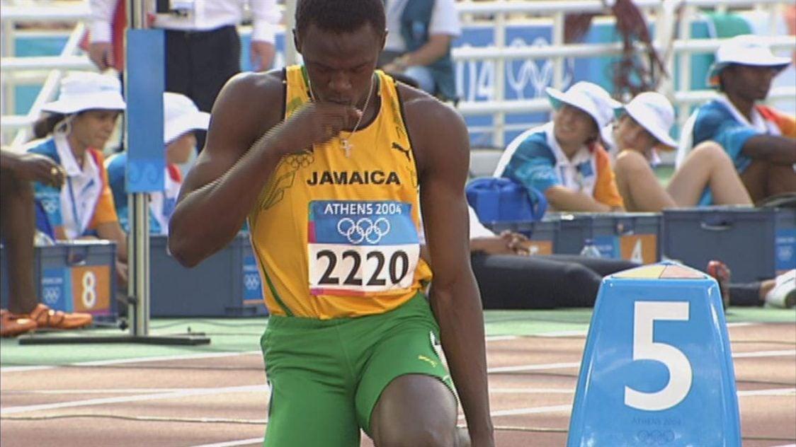 Usain Bolt na Igrzyskach Olimpijskich w Atenach