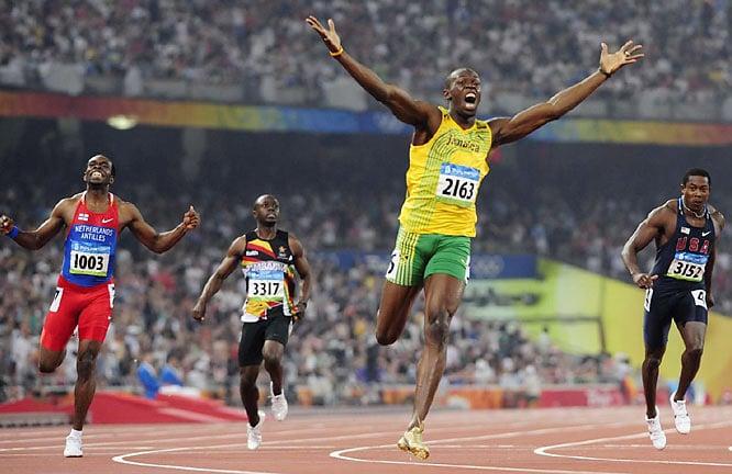 Usain Bolt na Igrzyskach Olimpijskich w Pekinie