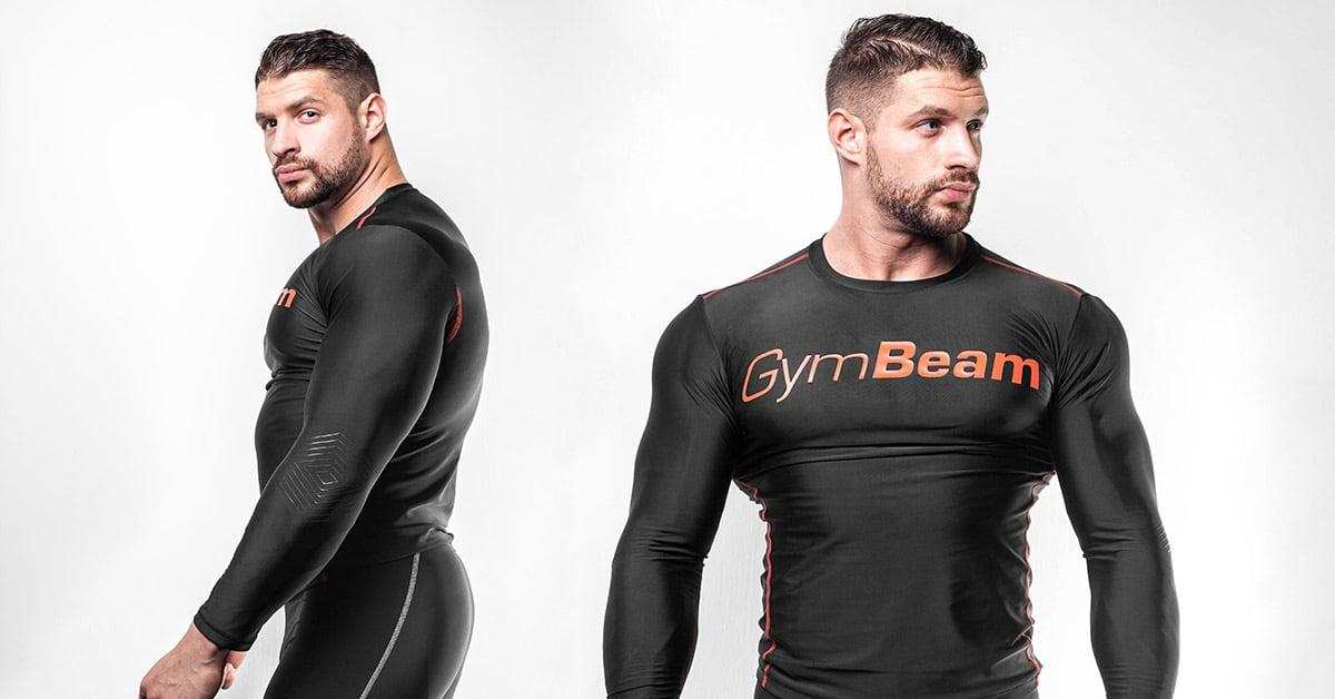 Kompresní tričko Black/Red - Gym Beam