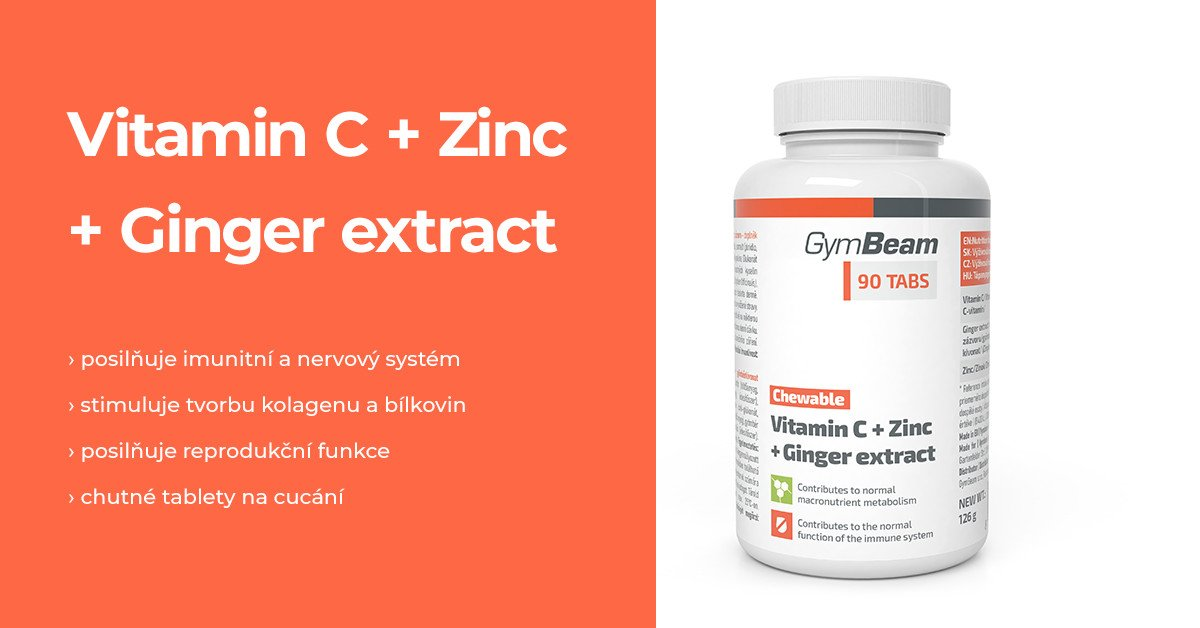 Vitamín C + Zinek + extrakt ze zázvoru tablety na cucání