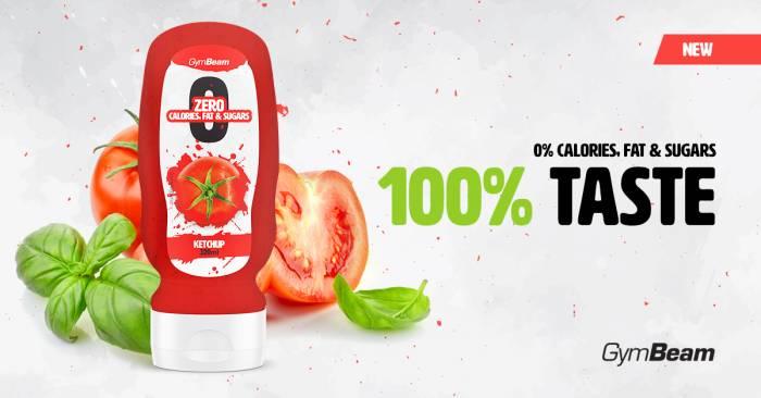 Bezkalorická omáčka Ketchup gymbeam - kečup bez kalorií
