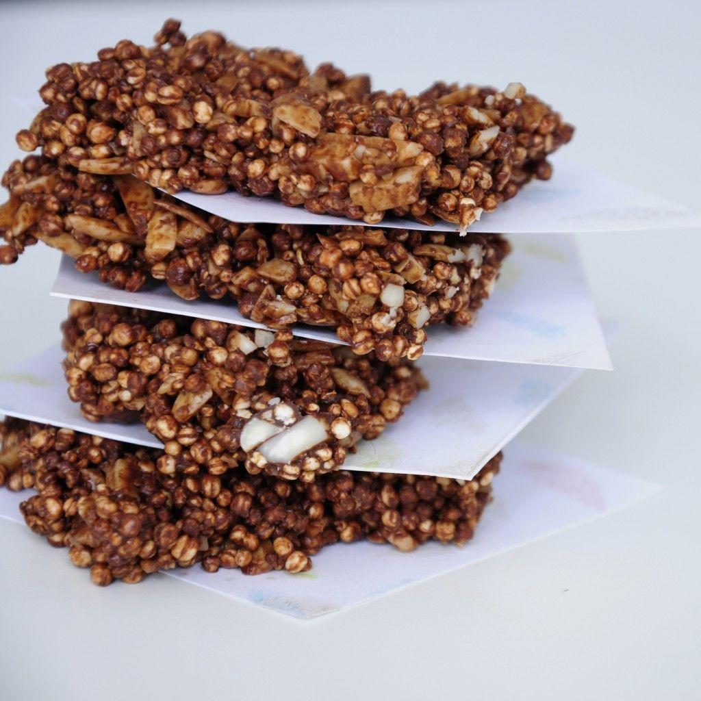 recept quinoa kořeněné proteinové tyčinky