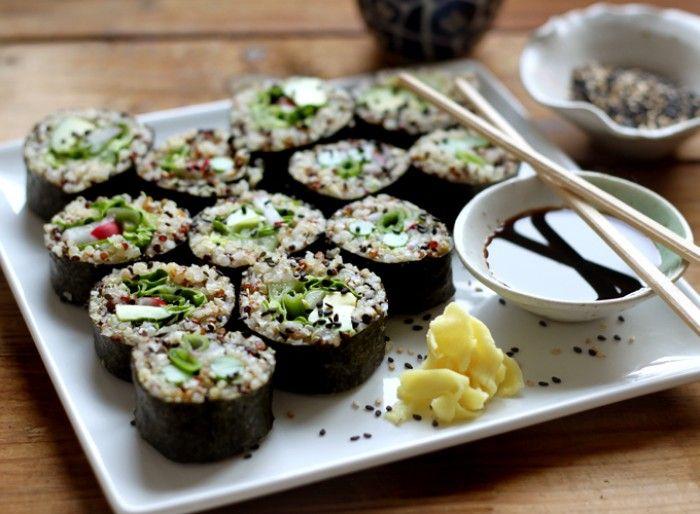 quinoa sushi recept
