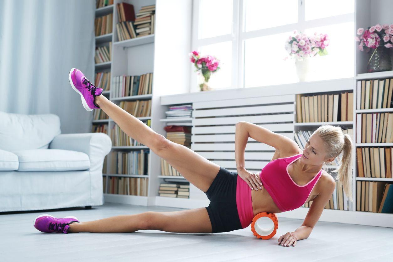 Válec na cvičení Fitness Roller Orange gymbeam