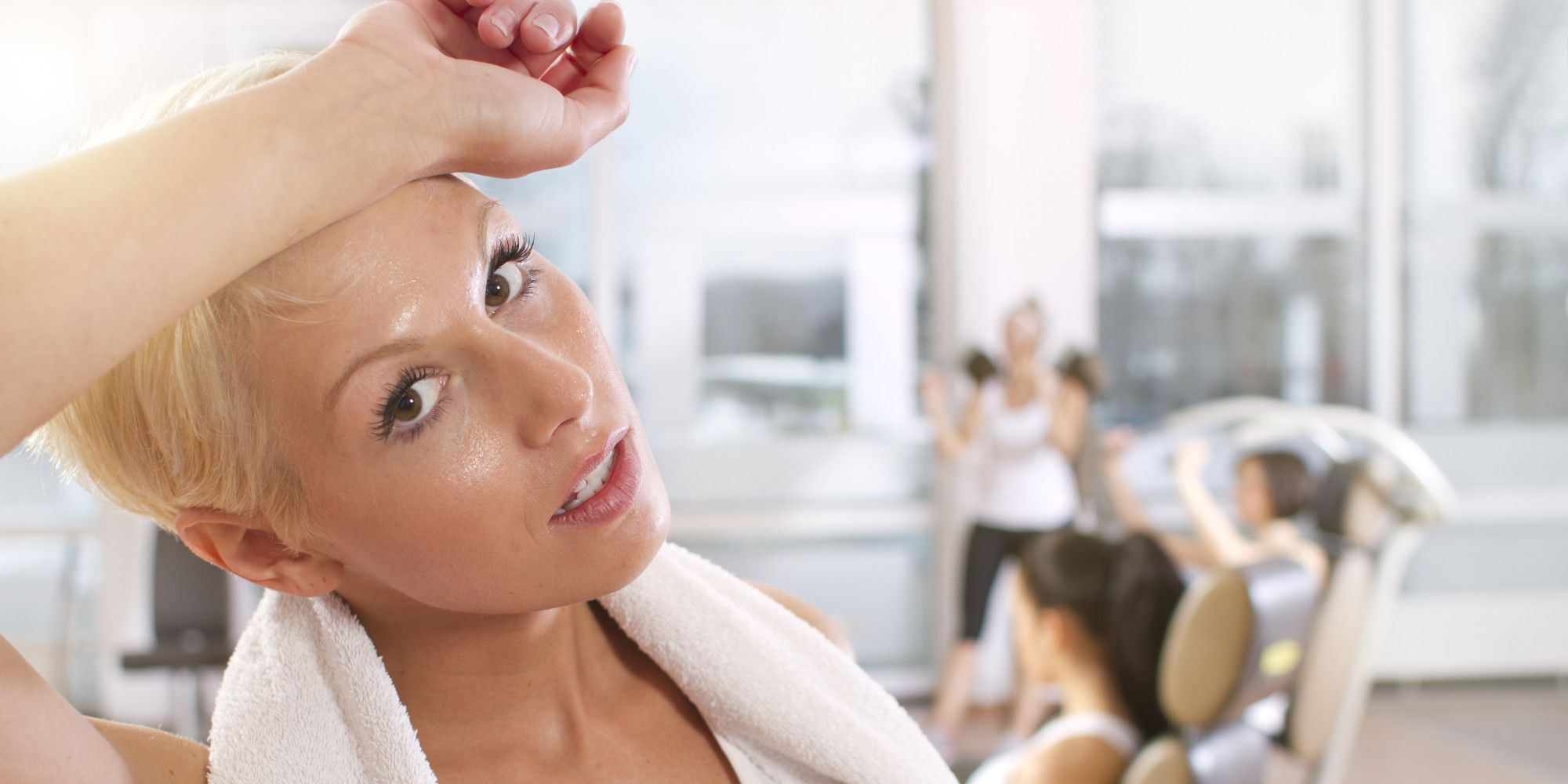 ručník na cvičení