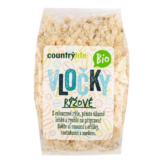 BIO Rýžové vločky 250 g - Country Life