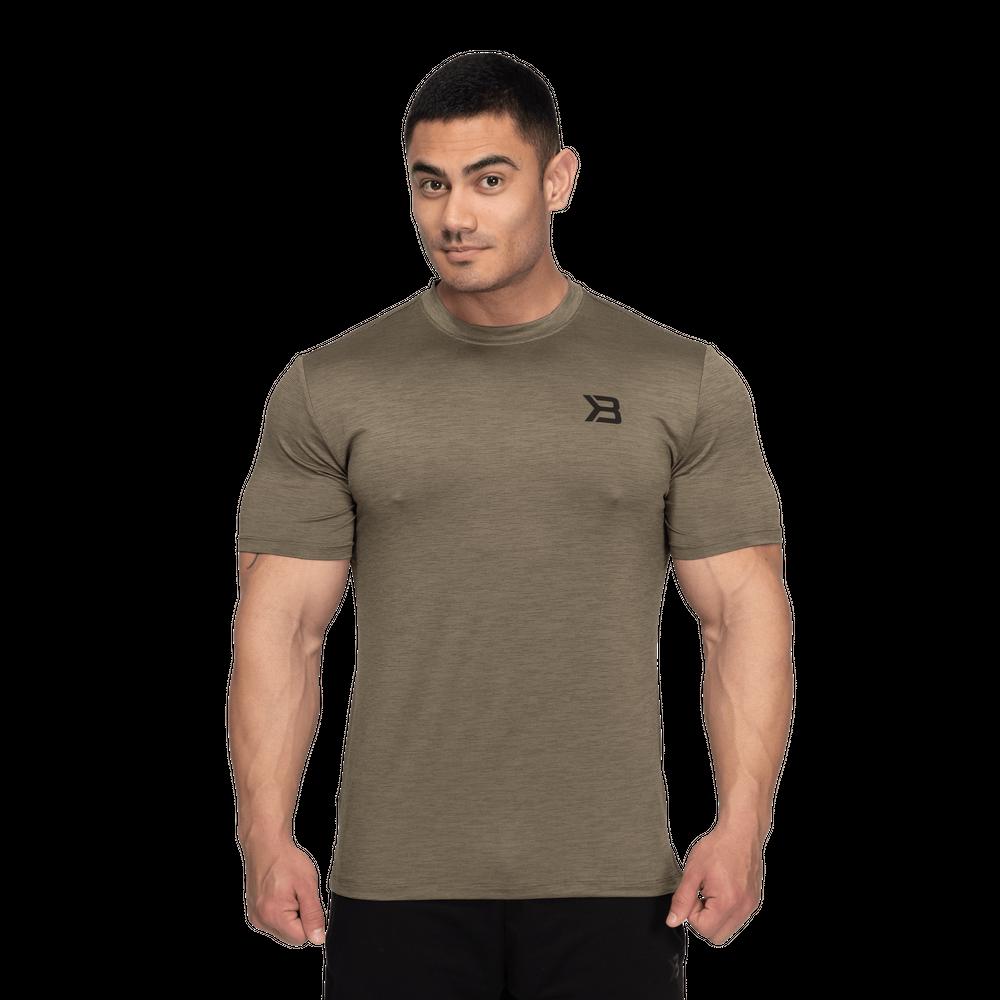 Levně Pánské tričko Essex Stripe Tee Washed Green Melange S - Better Bodies