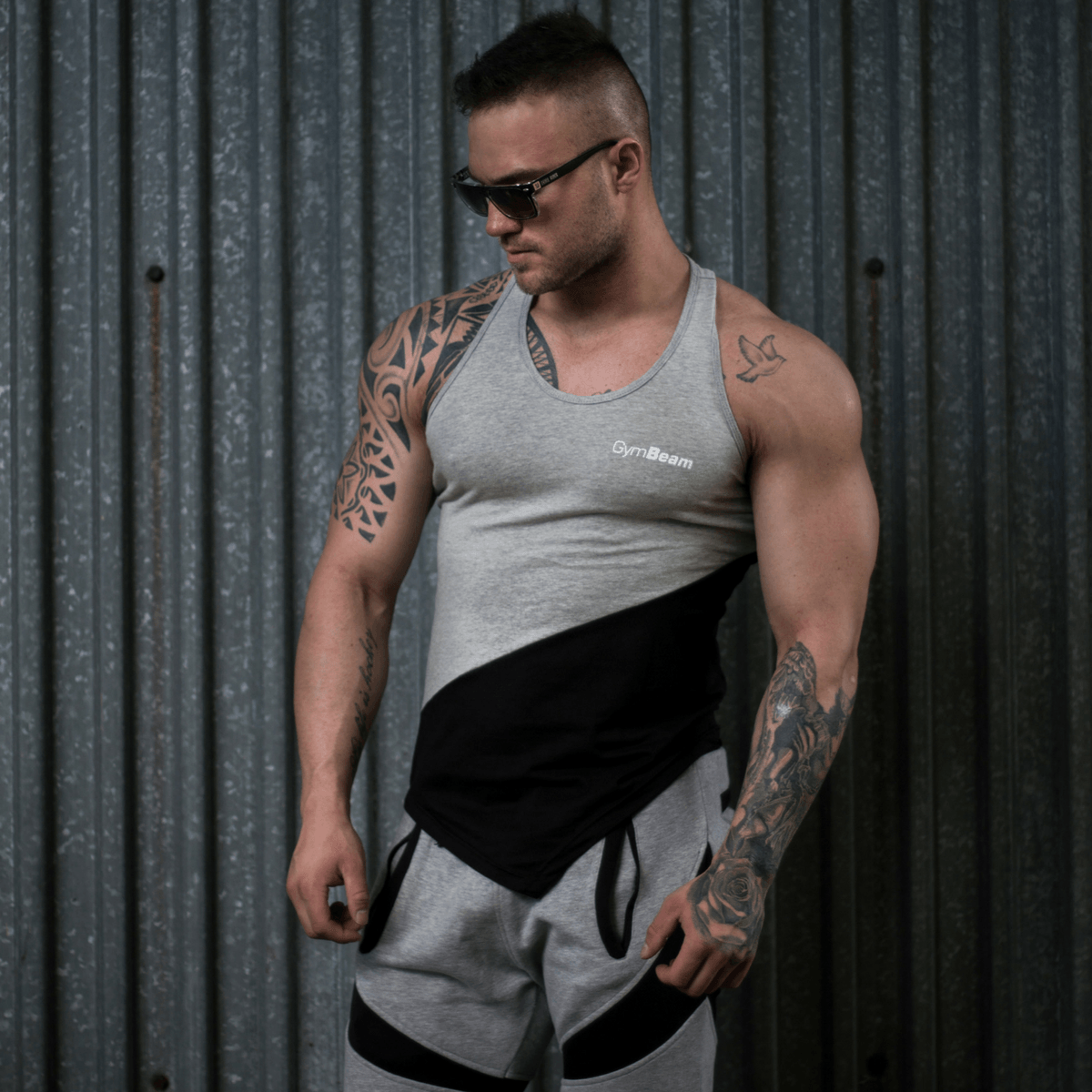 GymBeam Tielko Flexin Grey - XL