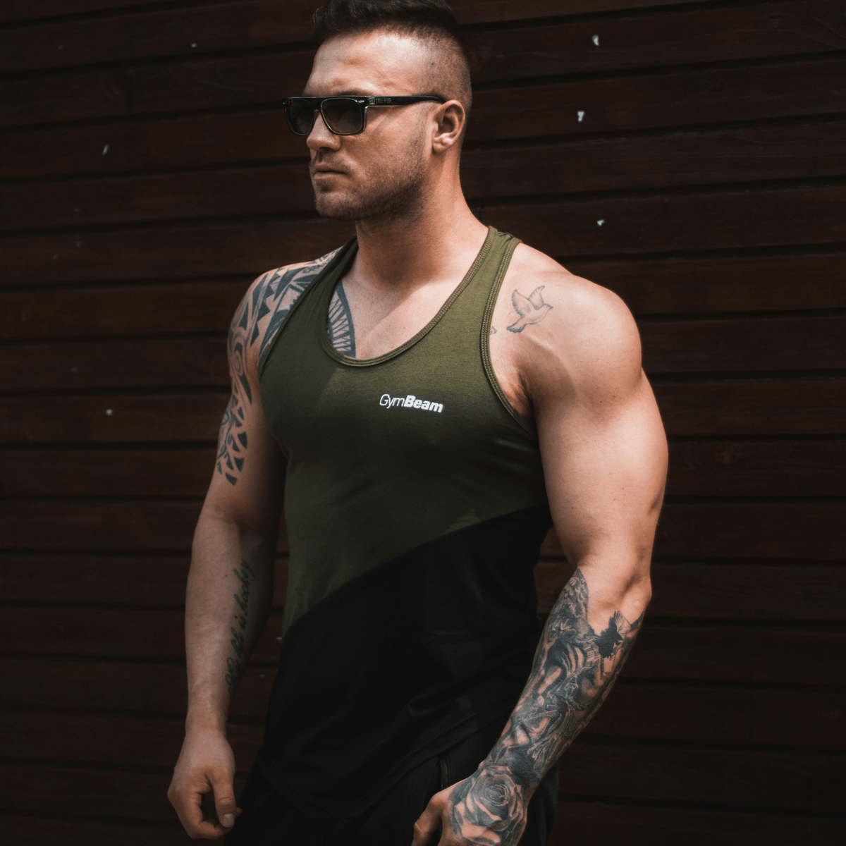 GymBeam Tielko Flexin Military Green - L