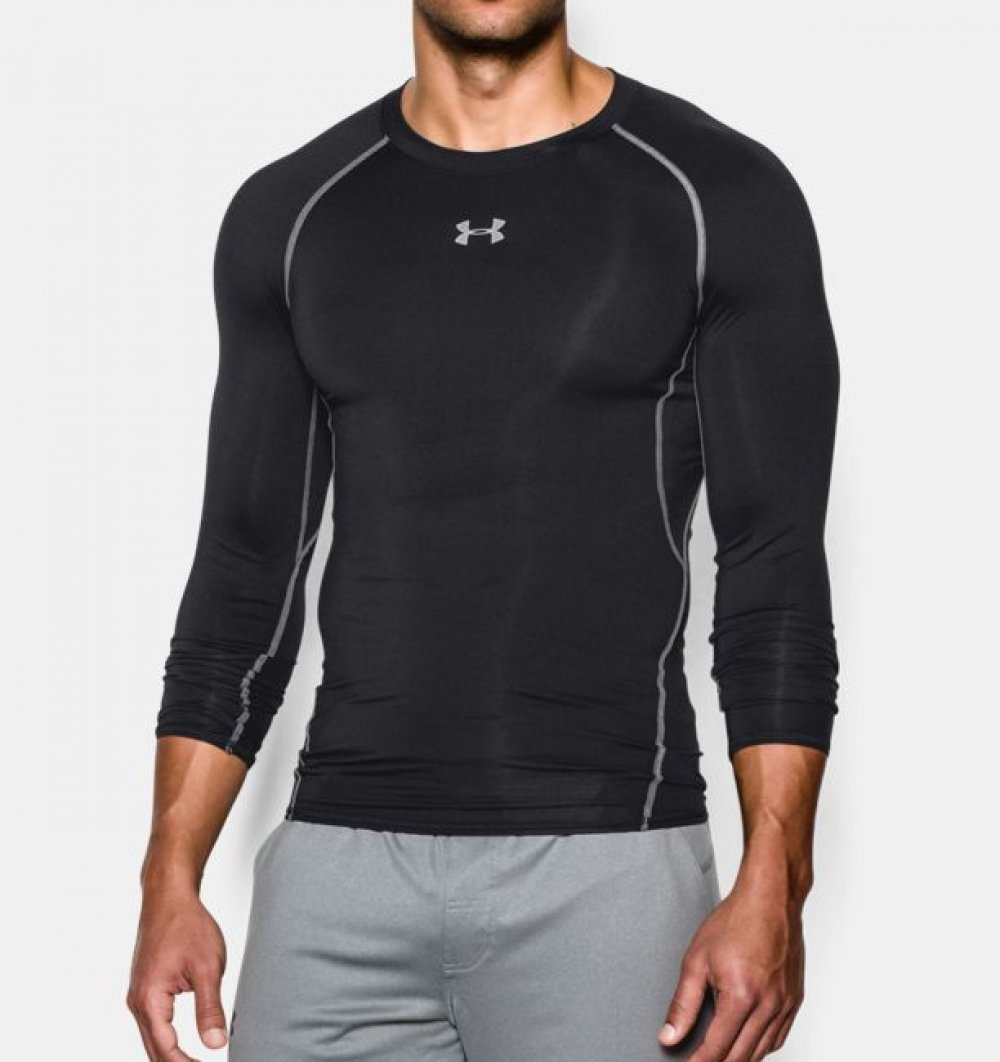 Kompresní tričko HG Armour LS Black - Under Armour