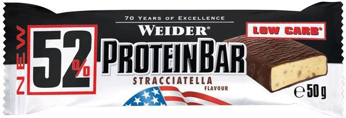 Weider Low Carb 52% Protein Bar 50 g - banana crisp