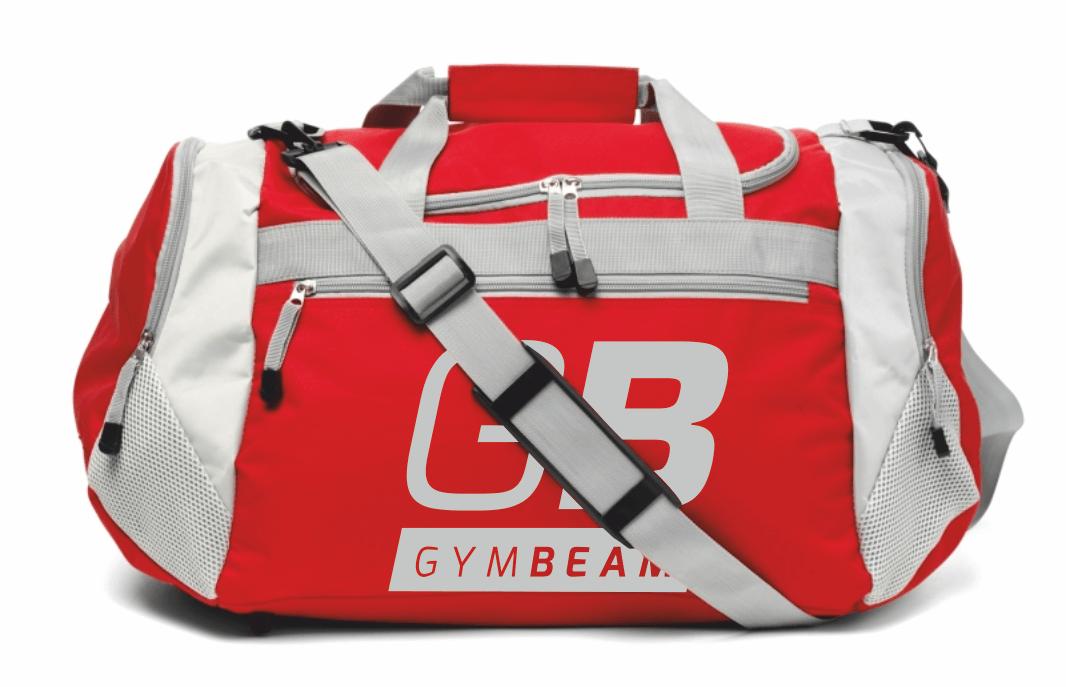 Športová taška Simple Red - GymBeam - červená