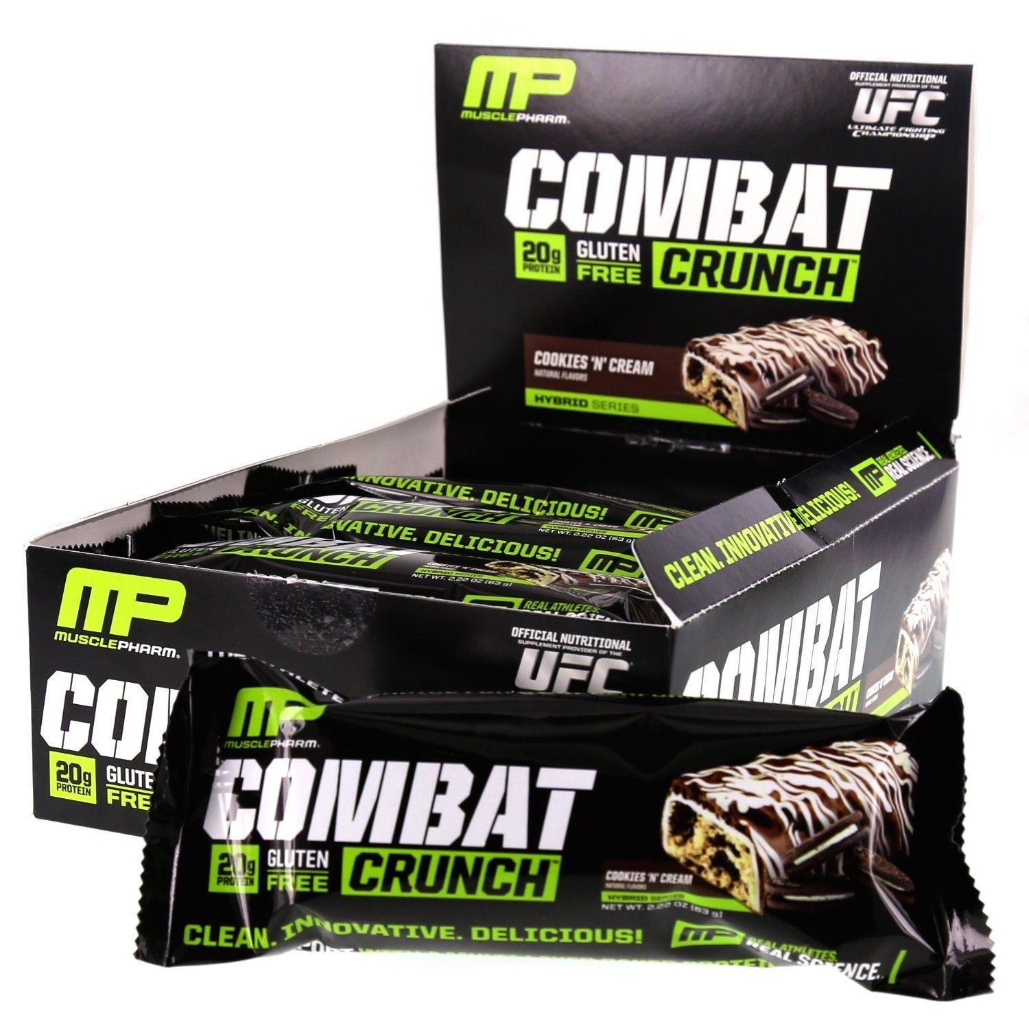 Proteínová tyčinka Combat Crunch 63 g - Muscle Pharm - white chocolate raspberry