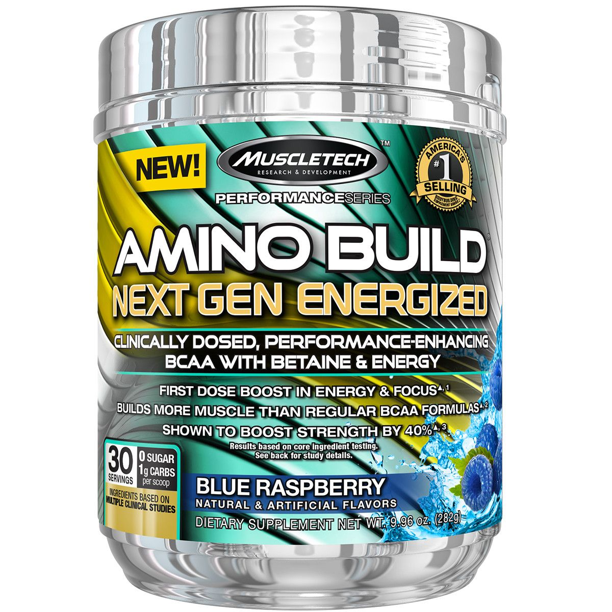 MuscleTech Amino Build Next Gen Energized 280 g - blue raspberry