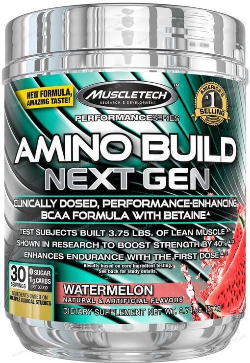 MuscleTech Aminokyseliny Amino Build Next Gen 270 g - White raspberry