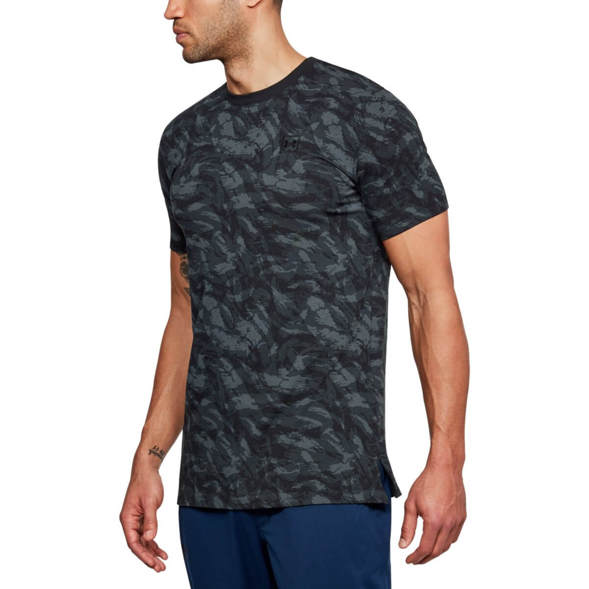 Under Armour Tričko AOP Sportstyle SS Black S