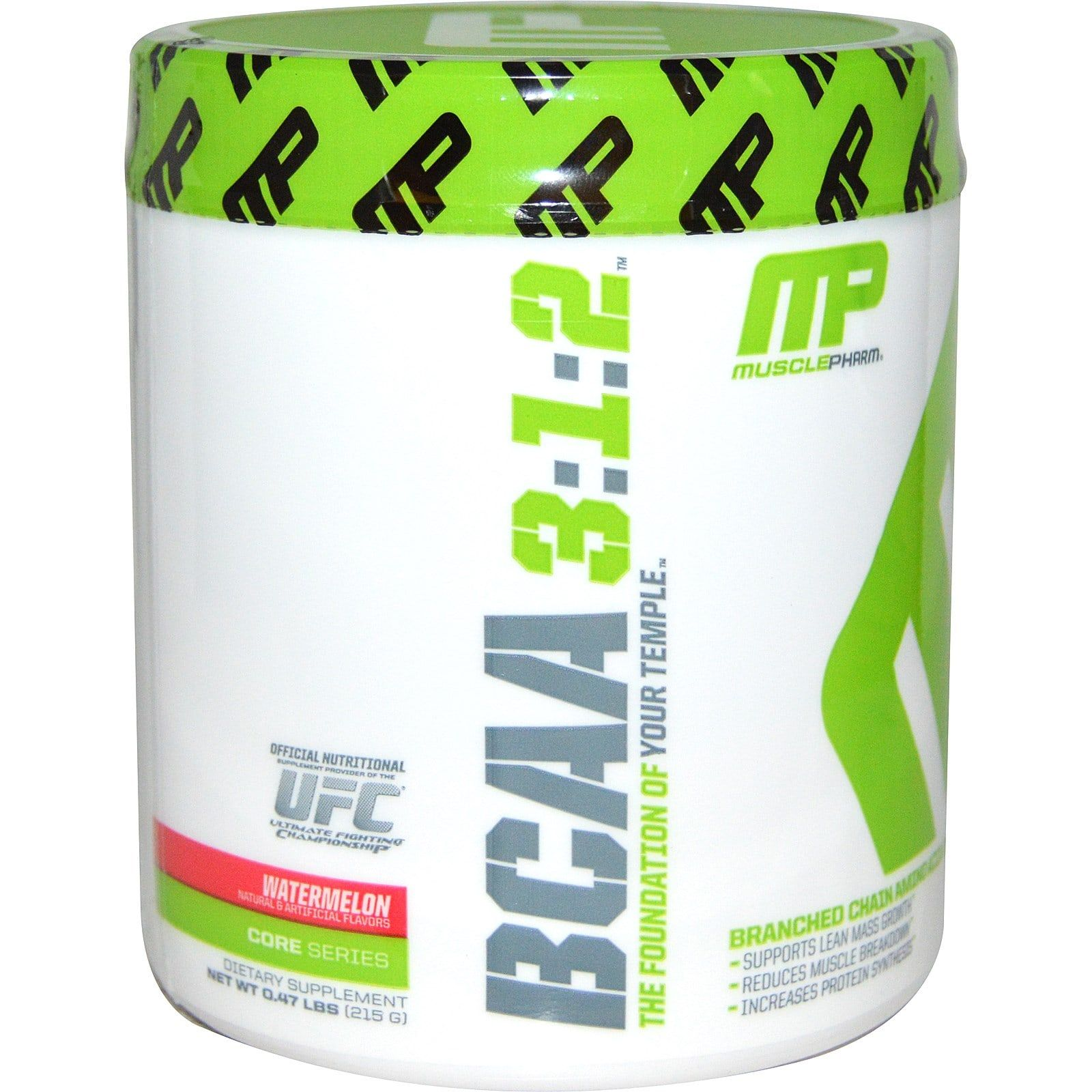 Aminokyseliny BCAA 3:1:2 - MusclePharm - 195 g - unflavoured