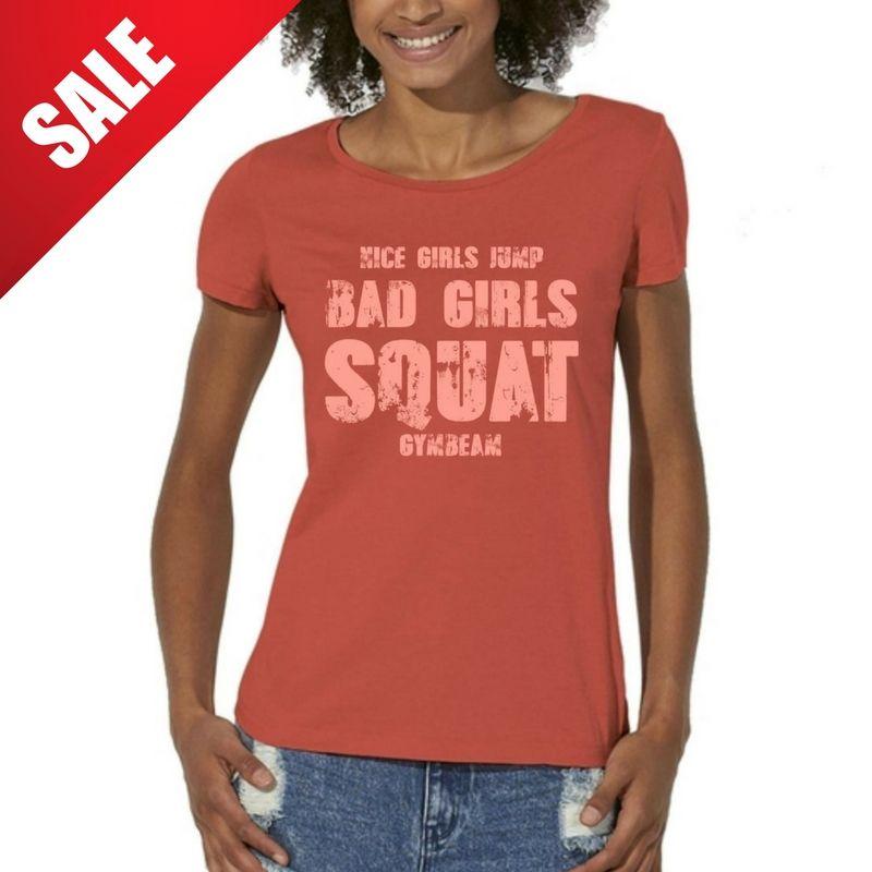 GymBeam Dámske tričko Bad Girls Red Pink - XS
