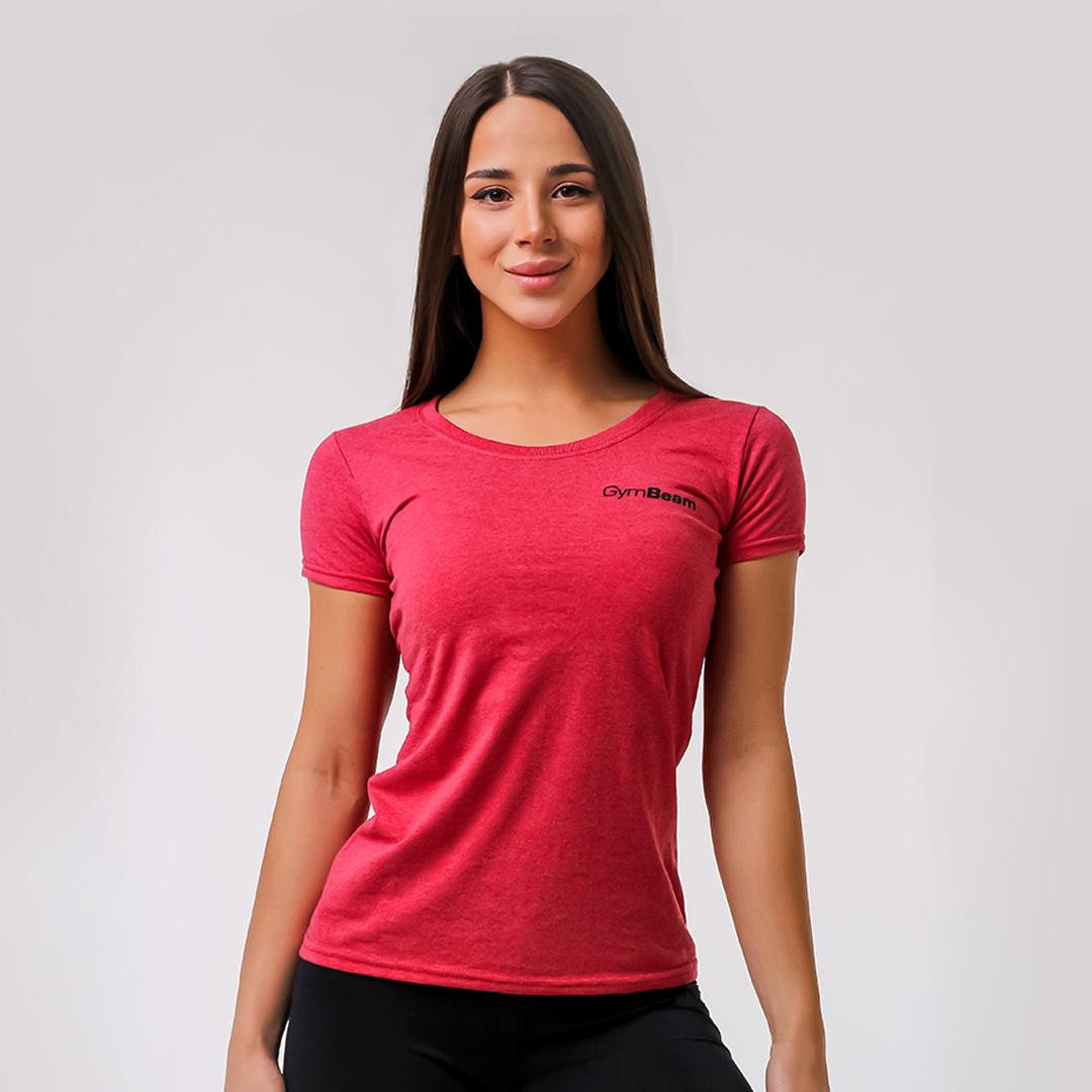 Dámské tričko Basic Vintage Red S - GymBeam