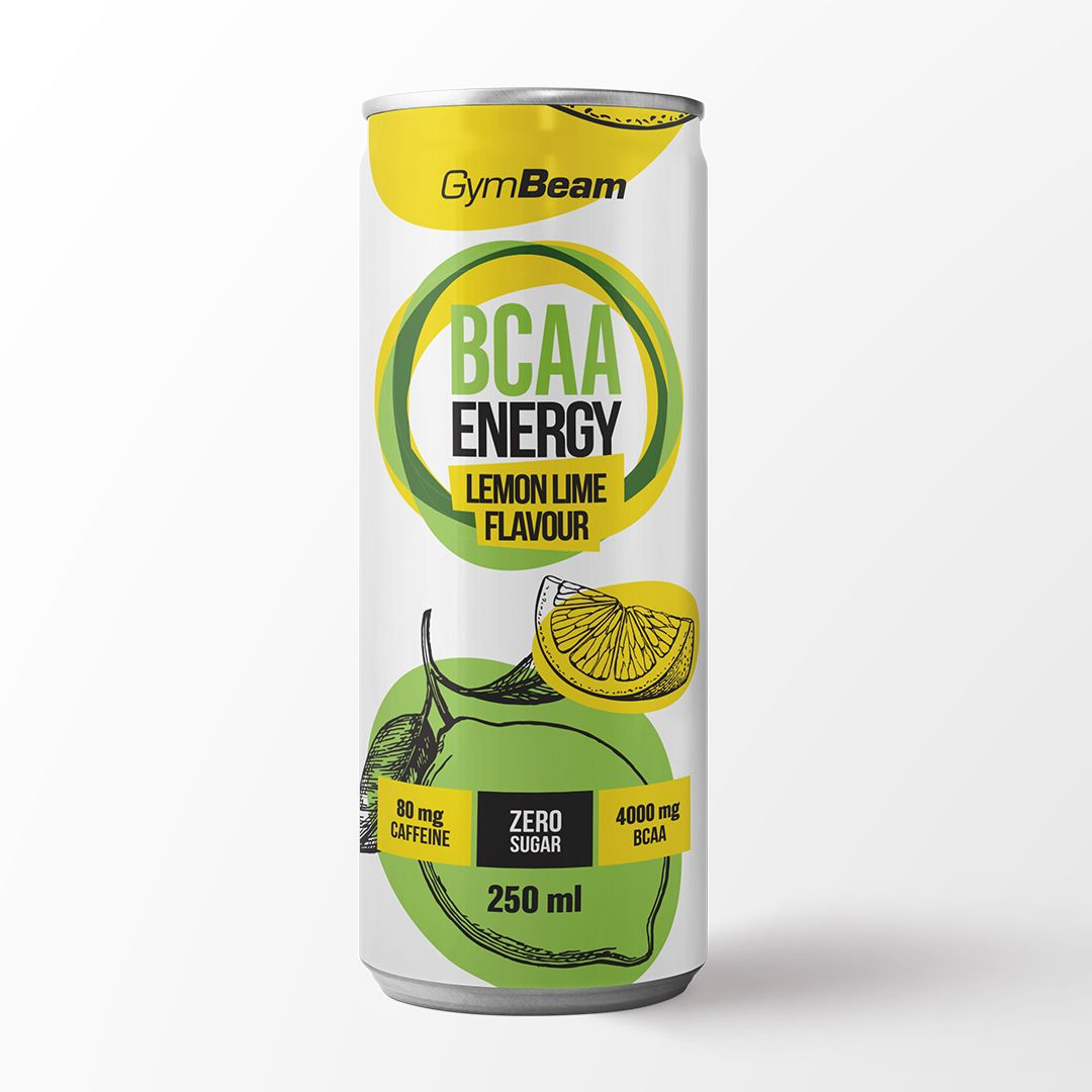 Gymbeam BCAA Energy drink 250 ml - lemon lime