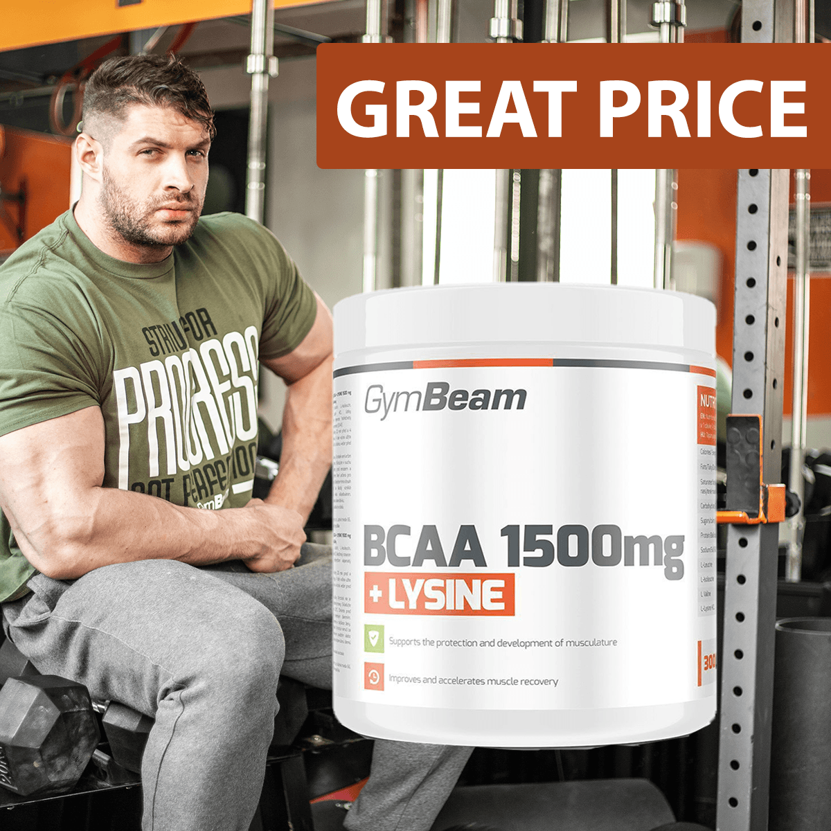 BCAA 1500  Lysin 300 tab - Gym Beam