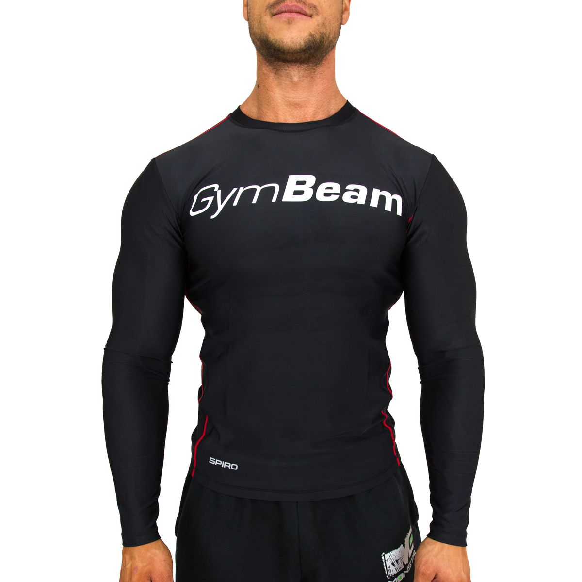 Kompresné tričko Spiro BlackWhite - Gym Beam - L