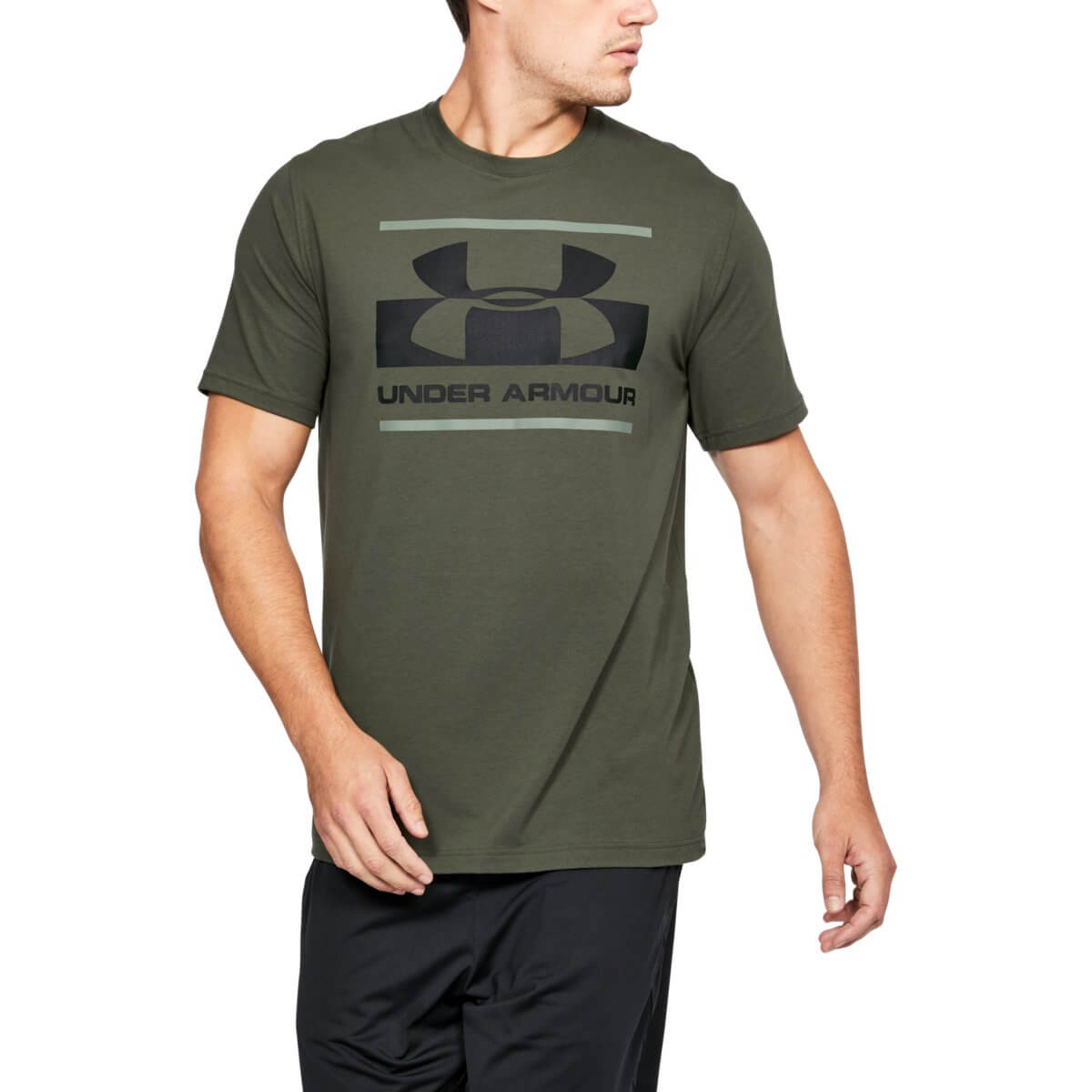 Under Armour Tričko Blocked Sportstyle Logo Green S