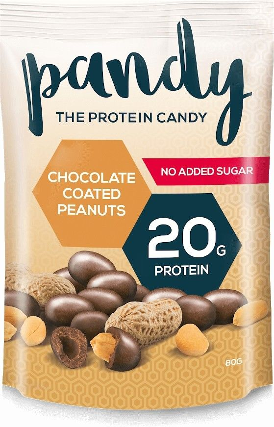 Pandy Pandy Protein Peanuts 80 g - chocolate coated peanuts