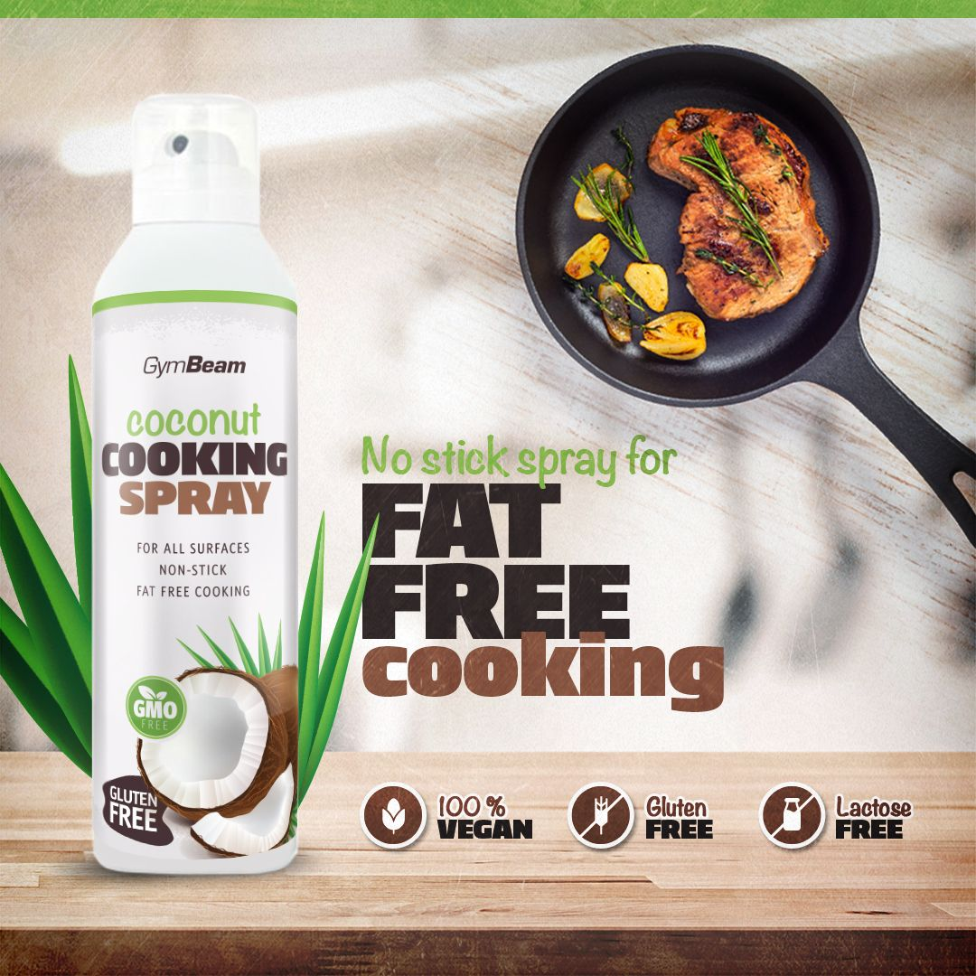 Sprej na vaření Coconut Cooking Spray 201 g - GymBeam