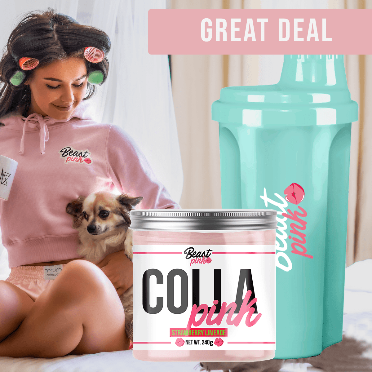 BeastPink Colla Pink 240 g - Strawberry Lemonade