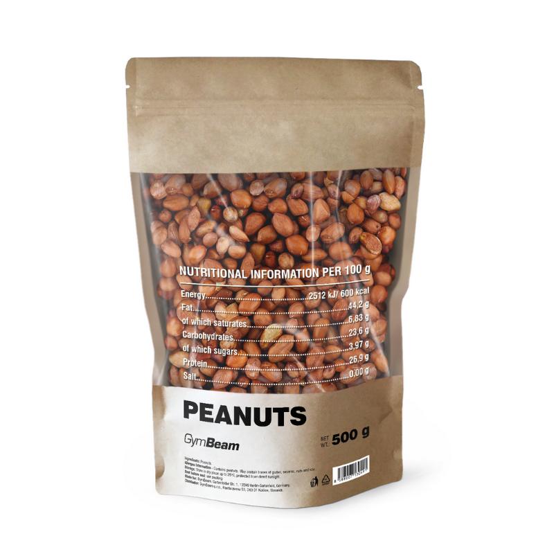 Arašídy nepražené 500 g bez příchuti - GymBeam
