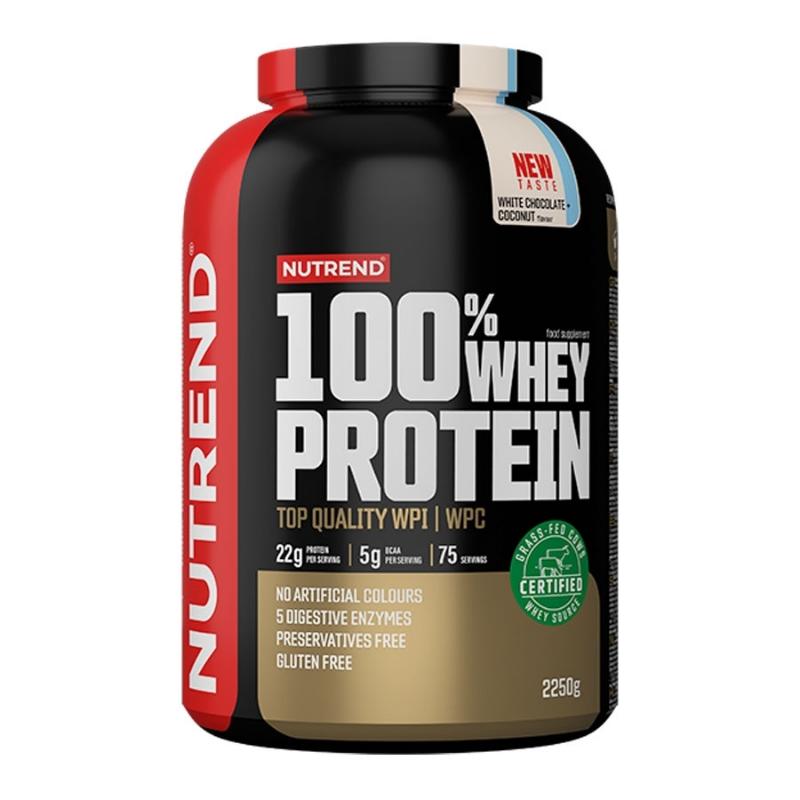 Protein 100% Whey 2250 g banán jahoda - Nutrend