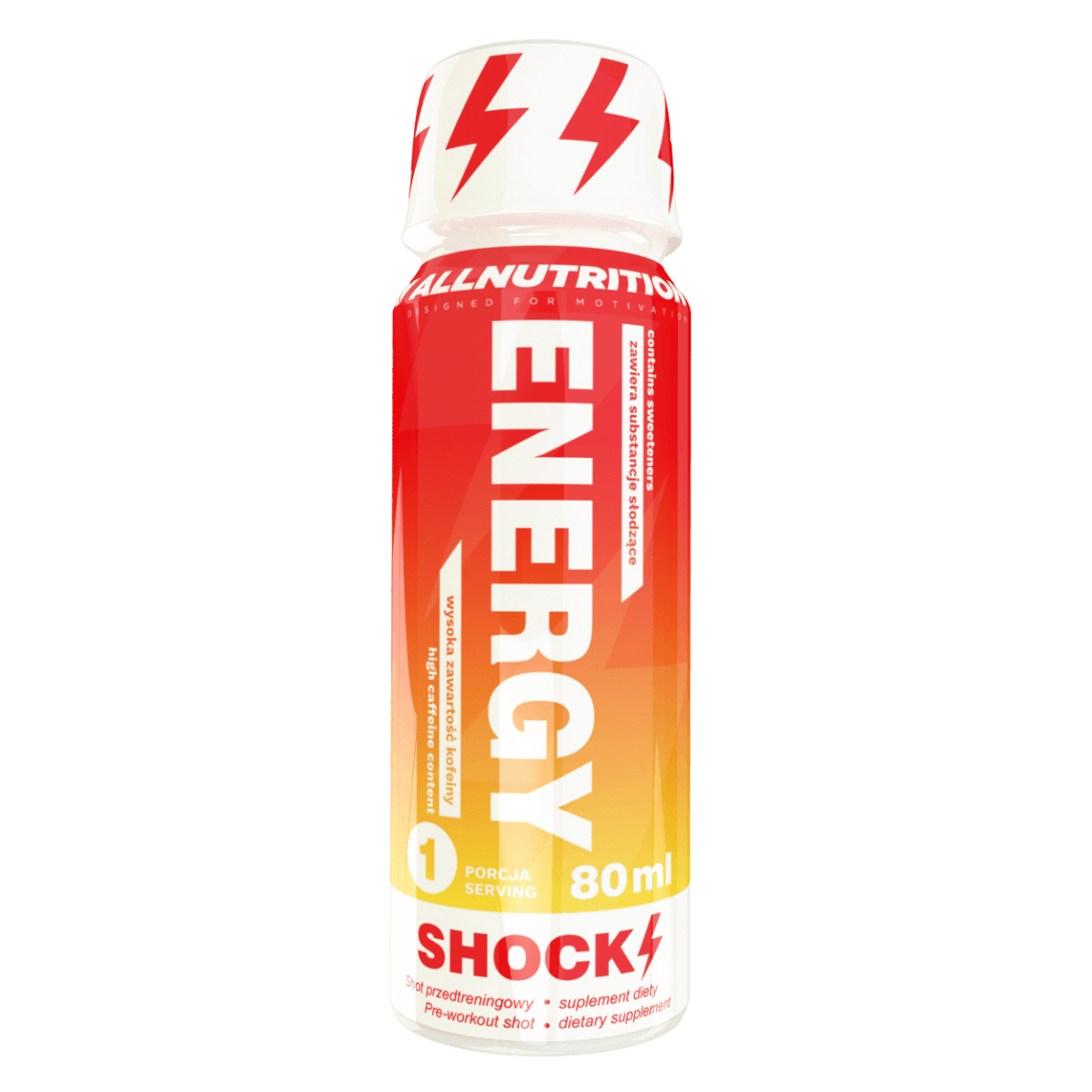 All Nutrition Predtréningový stimulant Energy Shock Shot 80 ml