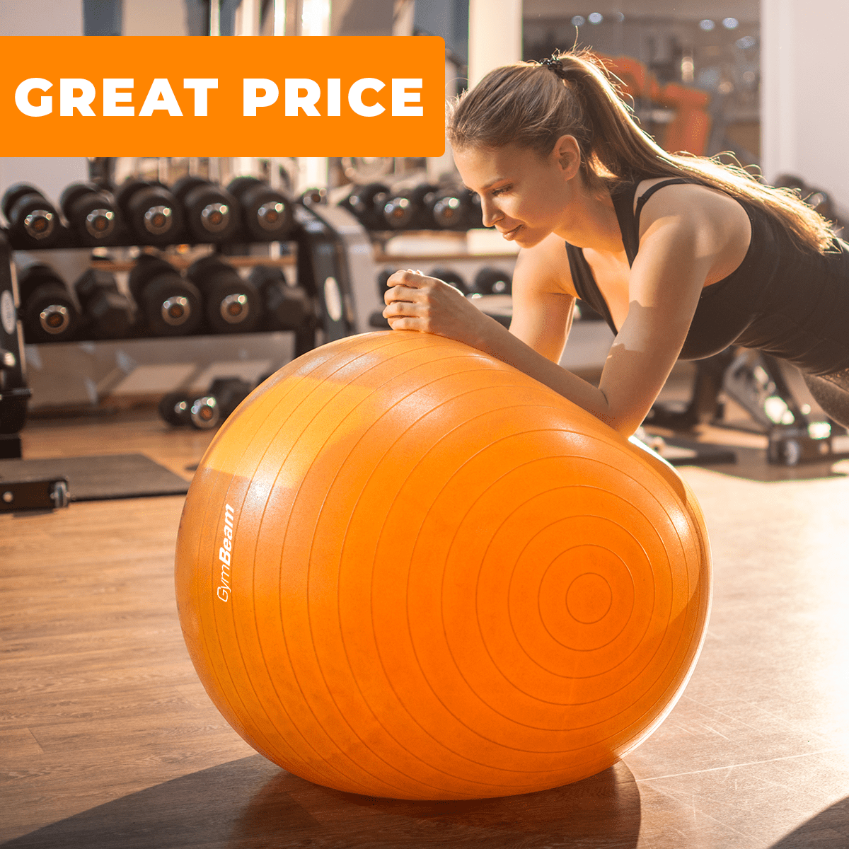 Fitlopta FitBall 85 cm - GymBeam - orange