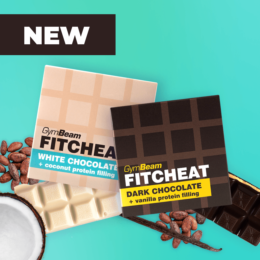 Fitcheat Protein Chocolate - Gymbeam - Dark chocolate with vanilla
