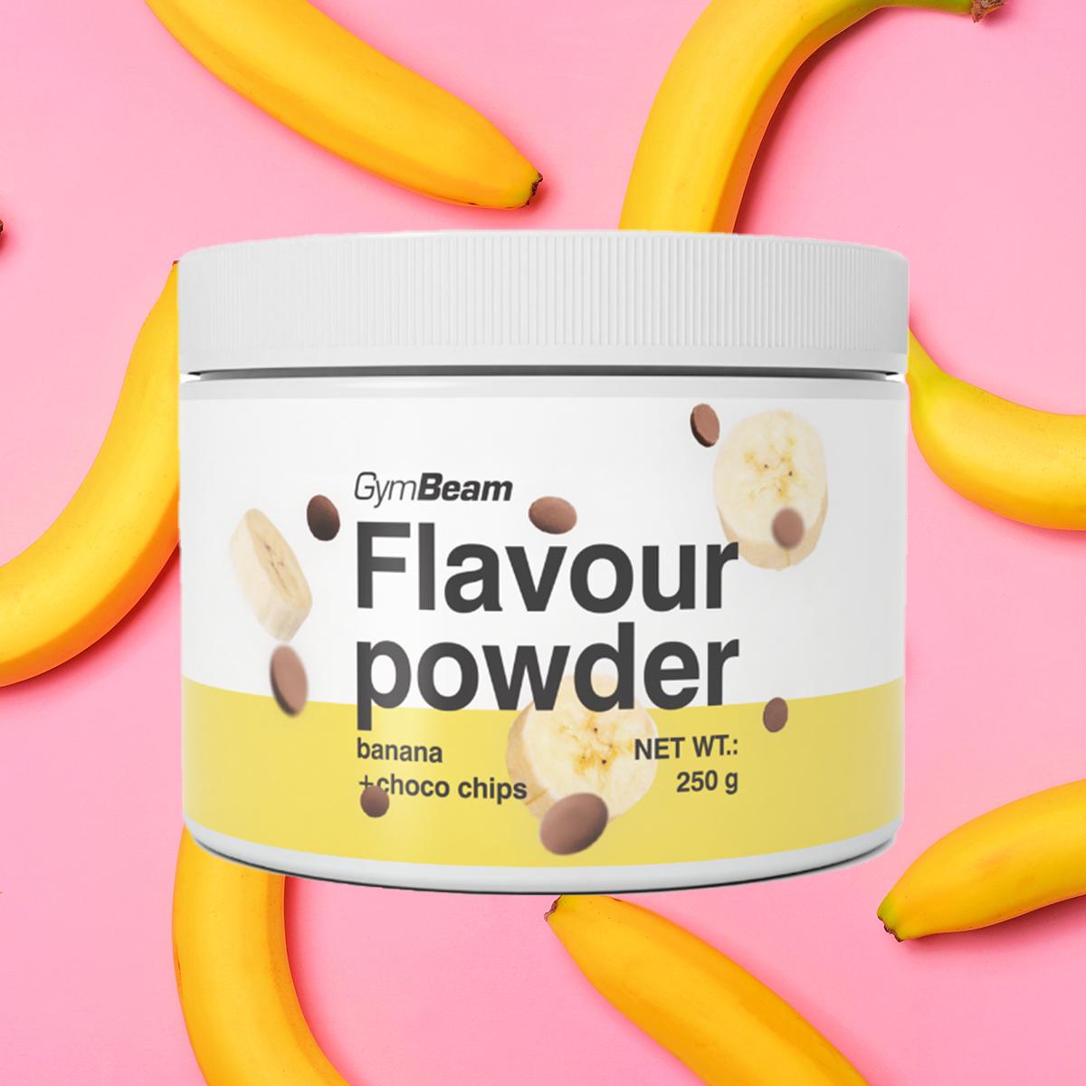Flavour powder 250 g banana with choco chips - GymBeam