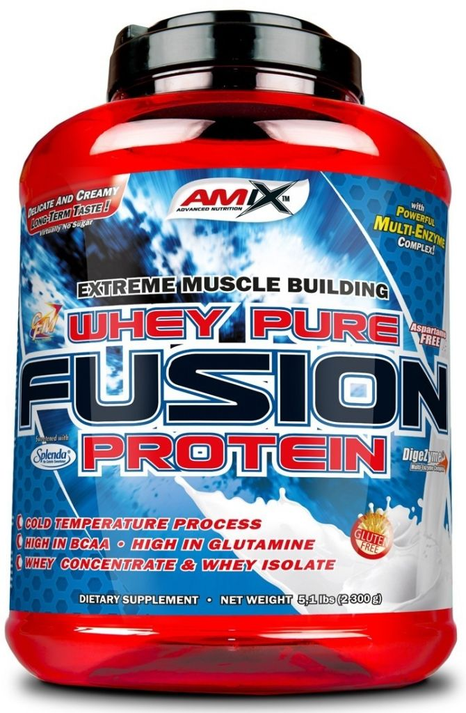 AMIX Whey Pure Fusion 2300 g - chocolate