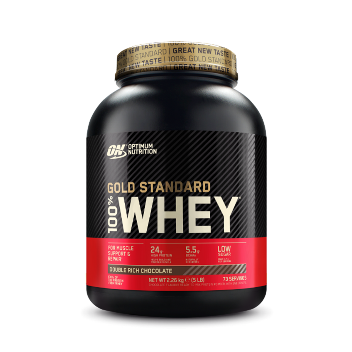 Protein 100% Whey Gold Standard 2270 g lahodná jahoda - Optimum Nutrition