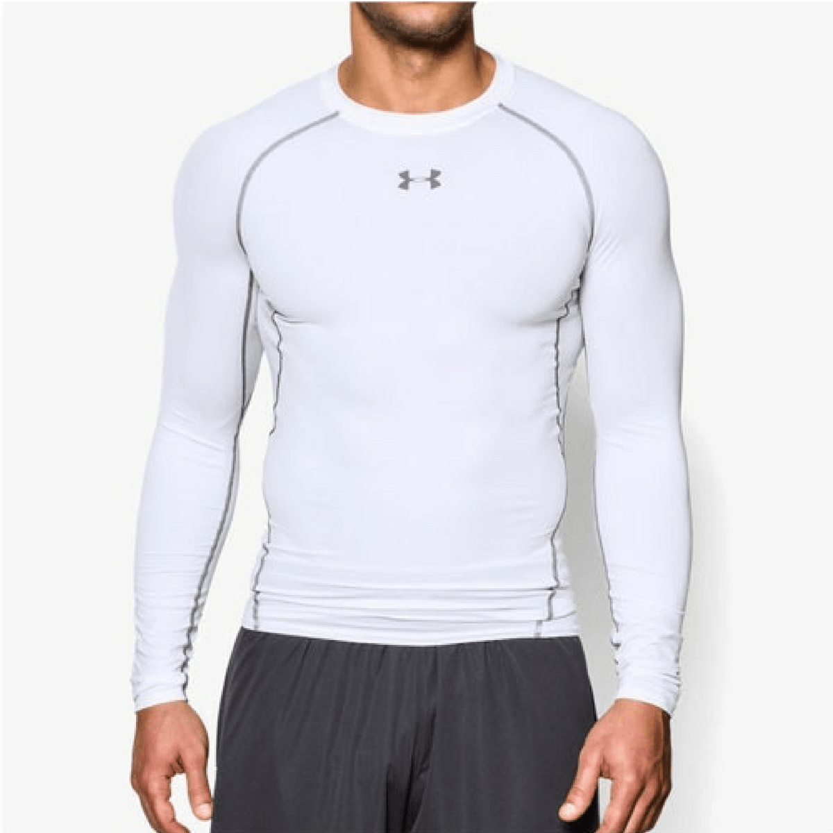 Under Armour Kompresné tričko HG Armour LS White  S