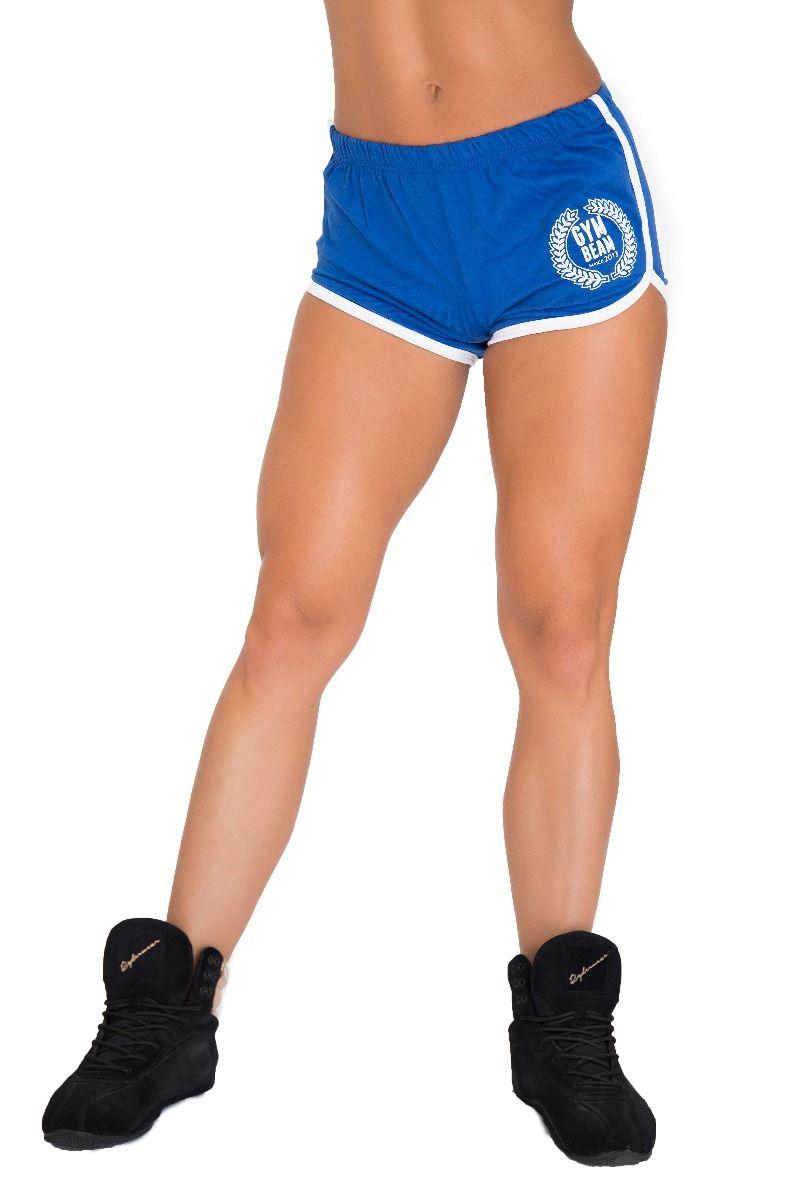 GymBeam Dámske fitness šortky Aesthetic Blue - S
