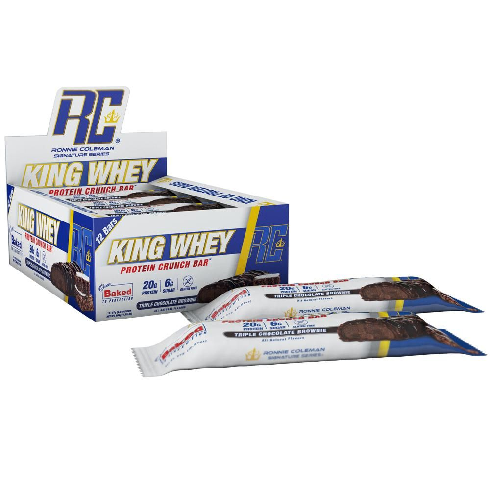 Ronnie Coleman King Whey Protein Crunch Bar 57 g - peanut butter cup