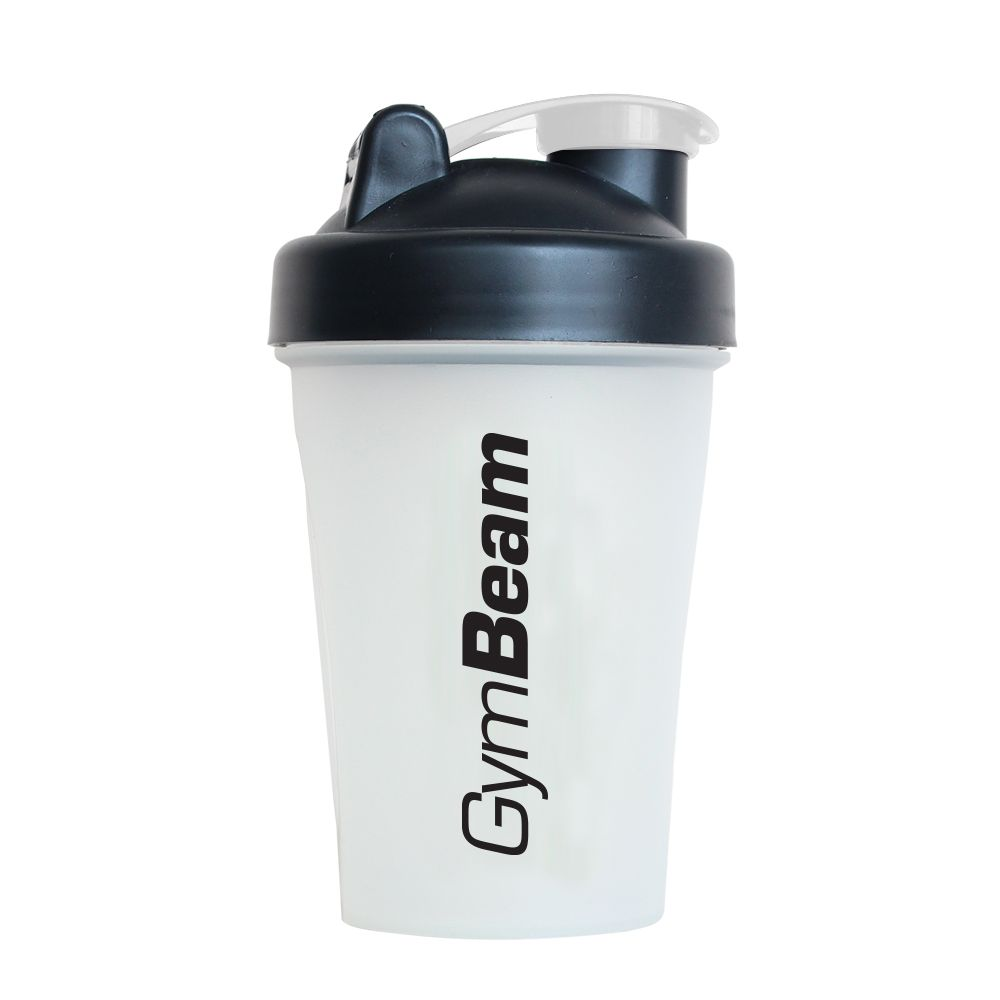 GymBeam Šejker Blender Bottle priesvitno-čierny 400 ml
