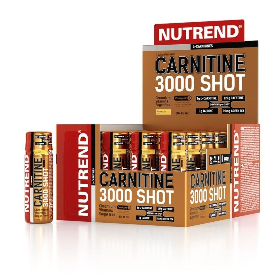 NUTREND Carnitine 3000 SHOT 60 ml - orange
