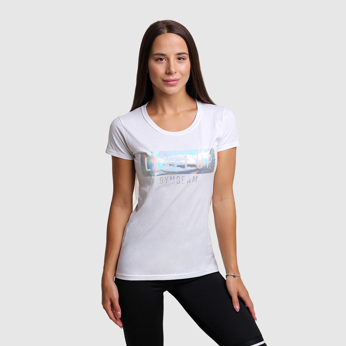 Dámské tričko Level Up White - GymBeam