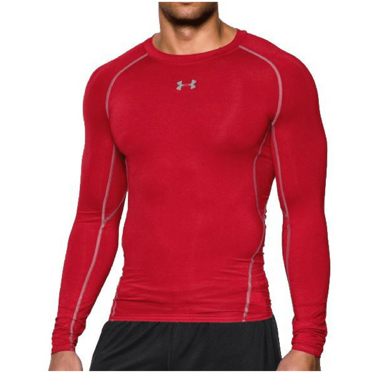 Kompresní tričko HG Armour LS Red - Under Armour