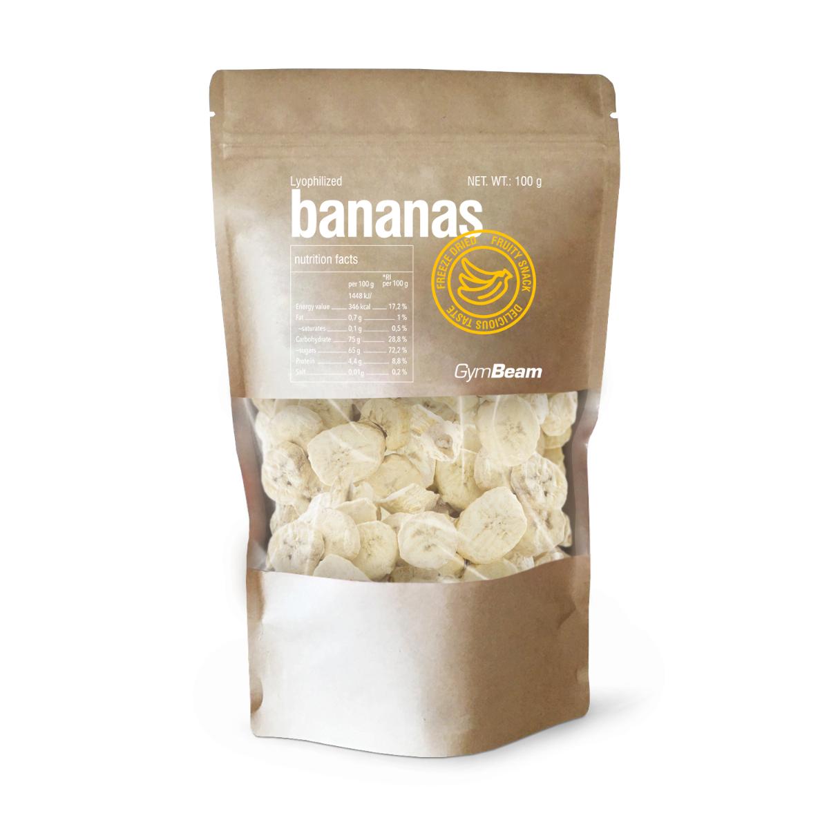 Lyofilizované banány 100 g - GymBeam